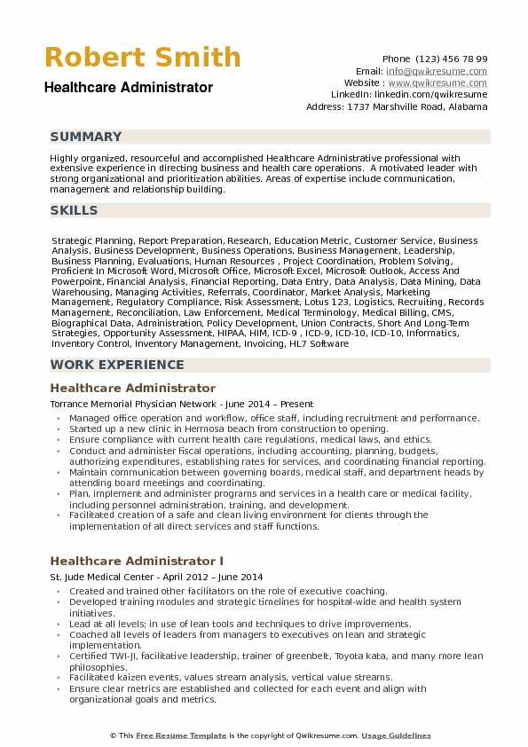 healthcare administrator resume samples qwikresume medical summary examples pdf doctor Resume Medical Resume Summary Examples