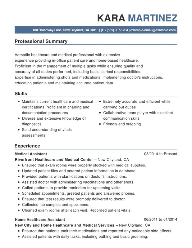 healthcare medical functional resume samples examples format templates help for job Resume Resume For Healthcare Job