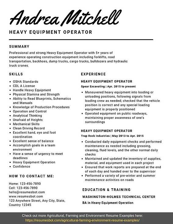 heavy equipment operator resume samples templates pdf word resumes bot machine sample Resume Machine Operator Resume Sample