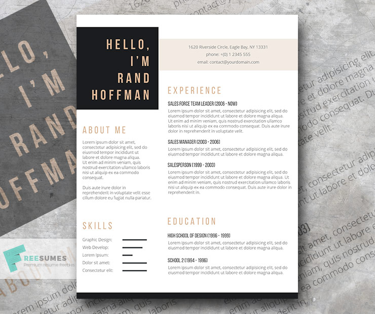 hello free resume template of the week freesumes to email english lecturer international Resume Free Resume To Email