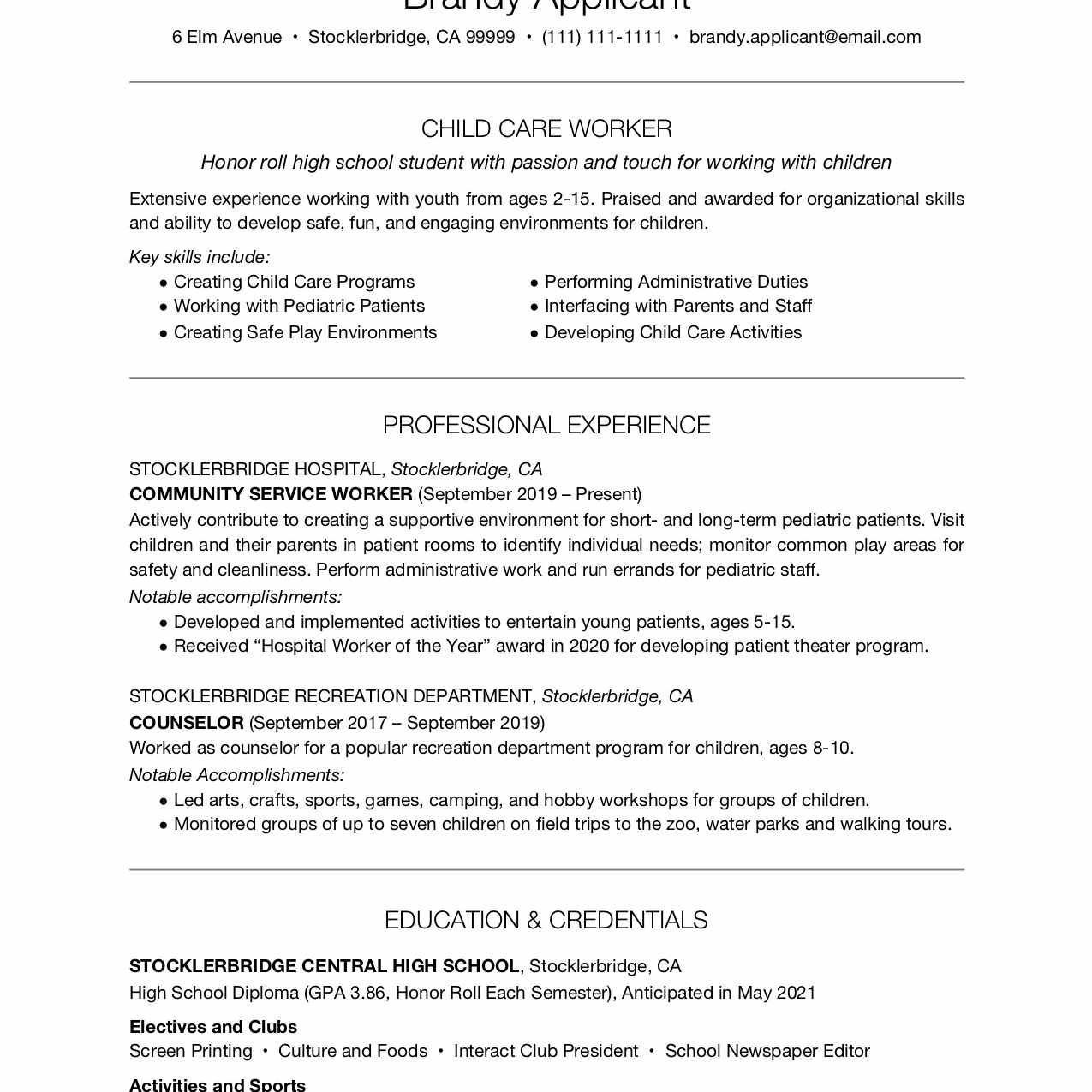 high school resume example with summary professional student make new program developer Resume Professional Summary Resume Student