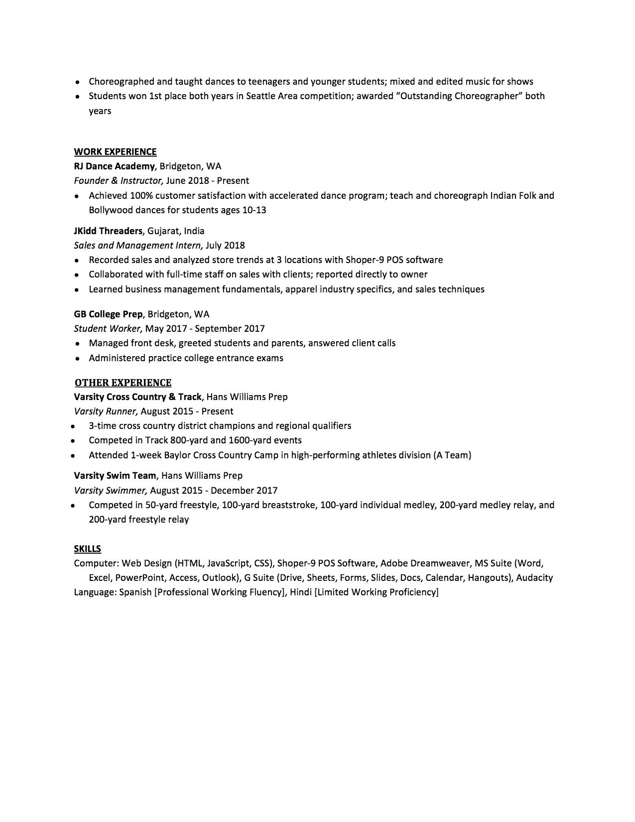 high school resume to write the best one templates included student for college Resume Student Resume For College Application