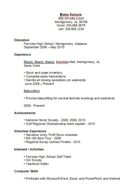 high school student resume example education best business examples walgreens customer Resume Education Resume High School Student