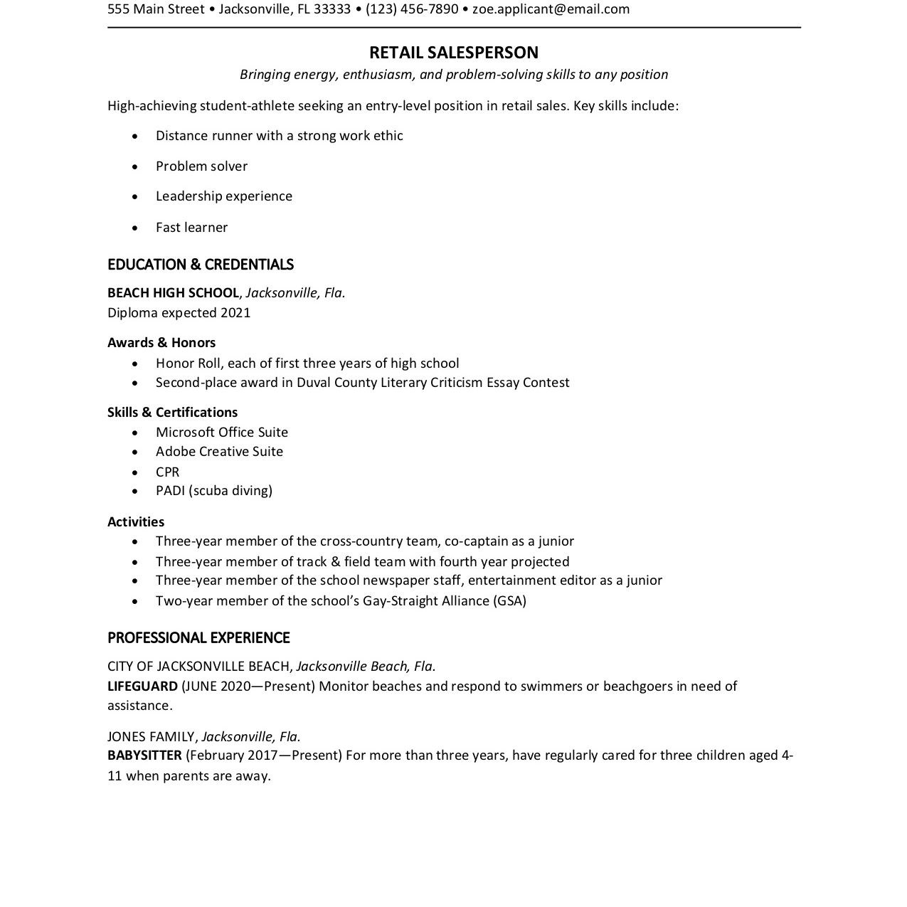 high school student resume template for retail job with no experience jesus jara writing Resume Resume For Retail Job With No Experience