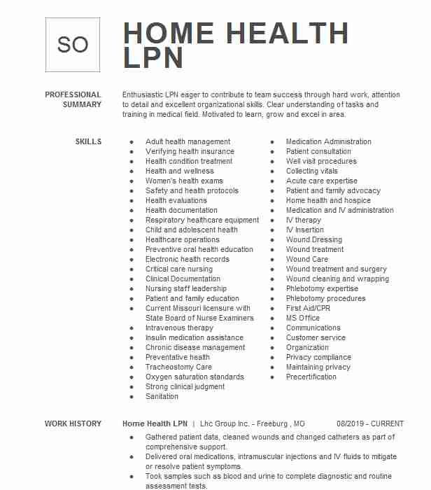 home health lpn resume example central star mansfield skills for farmers market small Resume Lpn Skills For Resume
