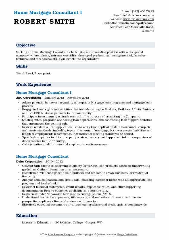 home mortgage consultant resume samples qwikresume pdf logistics sample examples for Resume Mortgage Consultant Resume