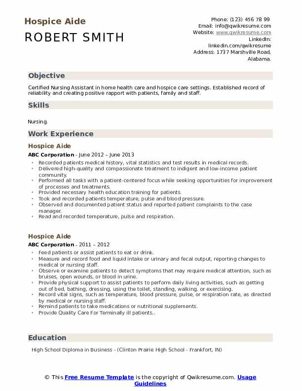 hospice aide resume samples qwikresume cna job description for pdf changing title on sqa Resume Cna Job Description For Resume