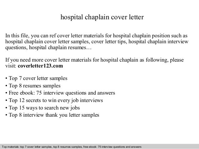hospital chaplain cover letter in this file you can ref materials for hosp sample resume Resume Hospital Chaplain Resume