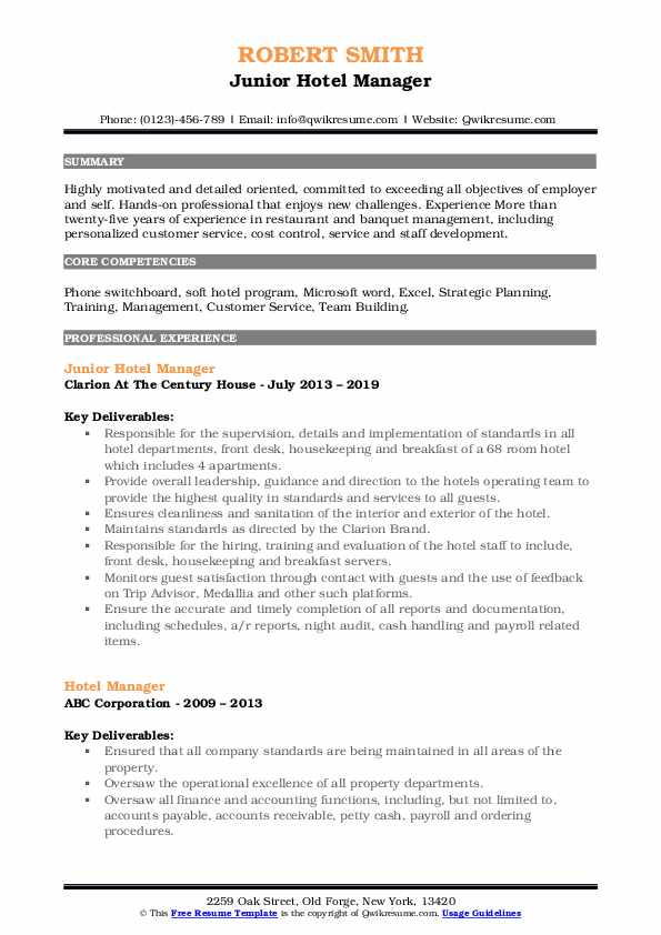 hotel manager resume samples qwikresume objectives for and restaurant services pdf small Resume Resume Objectives For Hotel And Restaurant Services