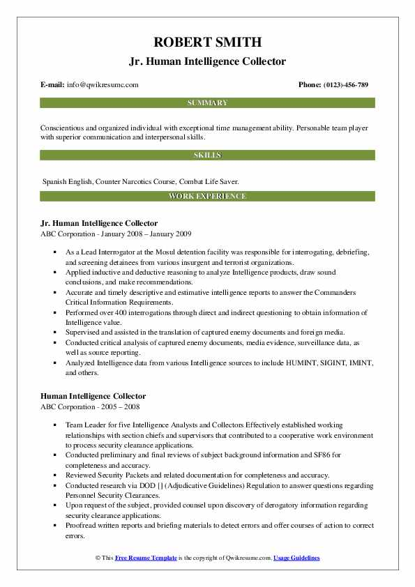human intelligence collector resume samples qwikresume pdf director of business Resume Human Intelligence Collector Resume