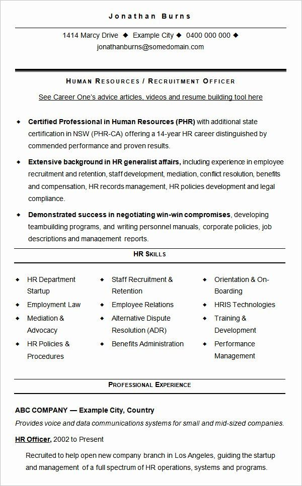 human resources director resume best of hr templates for freshers experienced sample Resume Human Resources Resume Skills