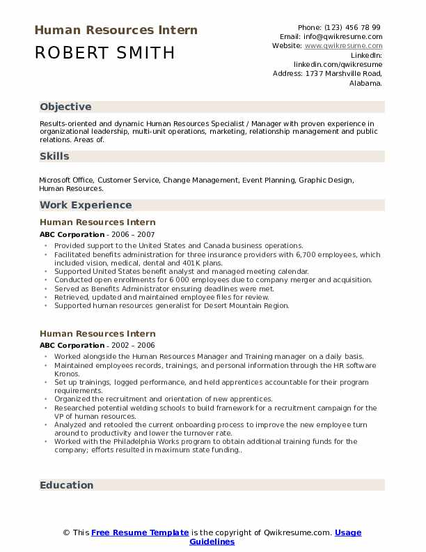 human resources intern resume samples qwikresume career objective for hrm pdf clean Resume Career Objective Resume For Hrm