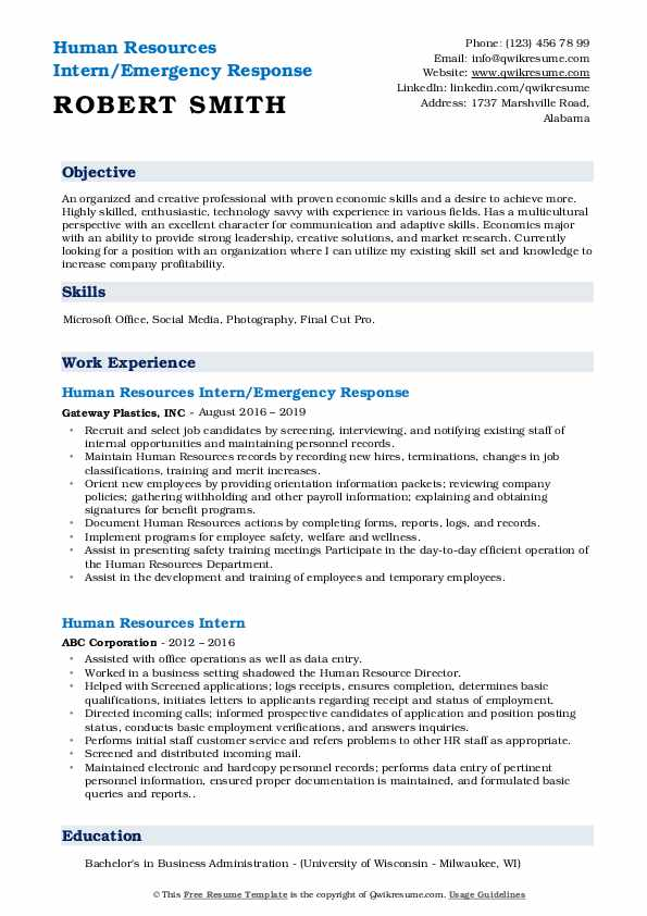 human resources intern resume samples qwikresume career objective for hrm pdf the victor Resume Career Objective Resume For Hrm