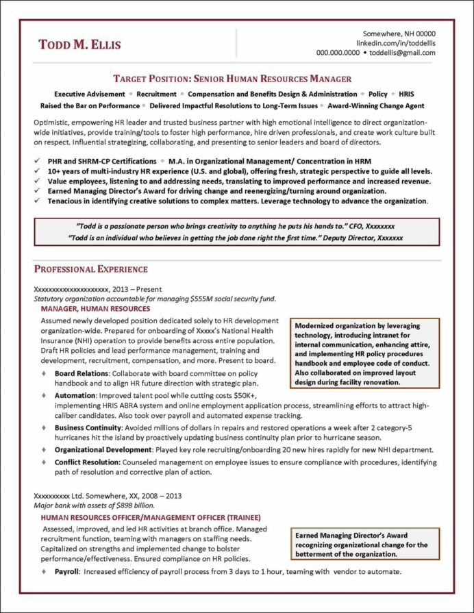 human resources manager resume distinctive career services business partner senior hcc Resume Human Resources Manager Resume Template