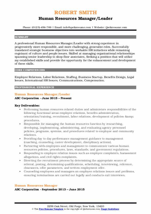 human resources manager resume samples qwikresume summary pdf sample email cover letter Resume Human Resources Manager Resume Summary