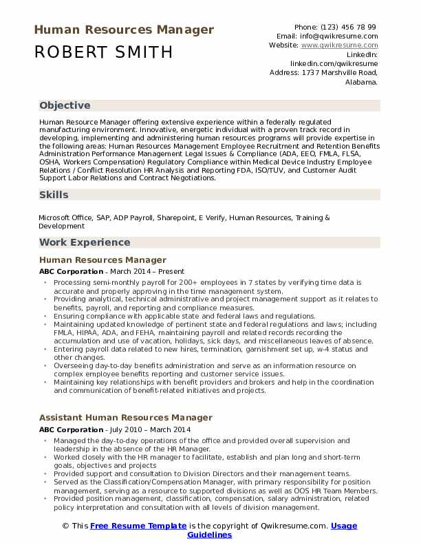 human resources manager resume samples qwikresume summary pdf sample for hardware and Resume Human Resources Manager Resume Summary
