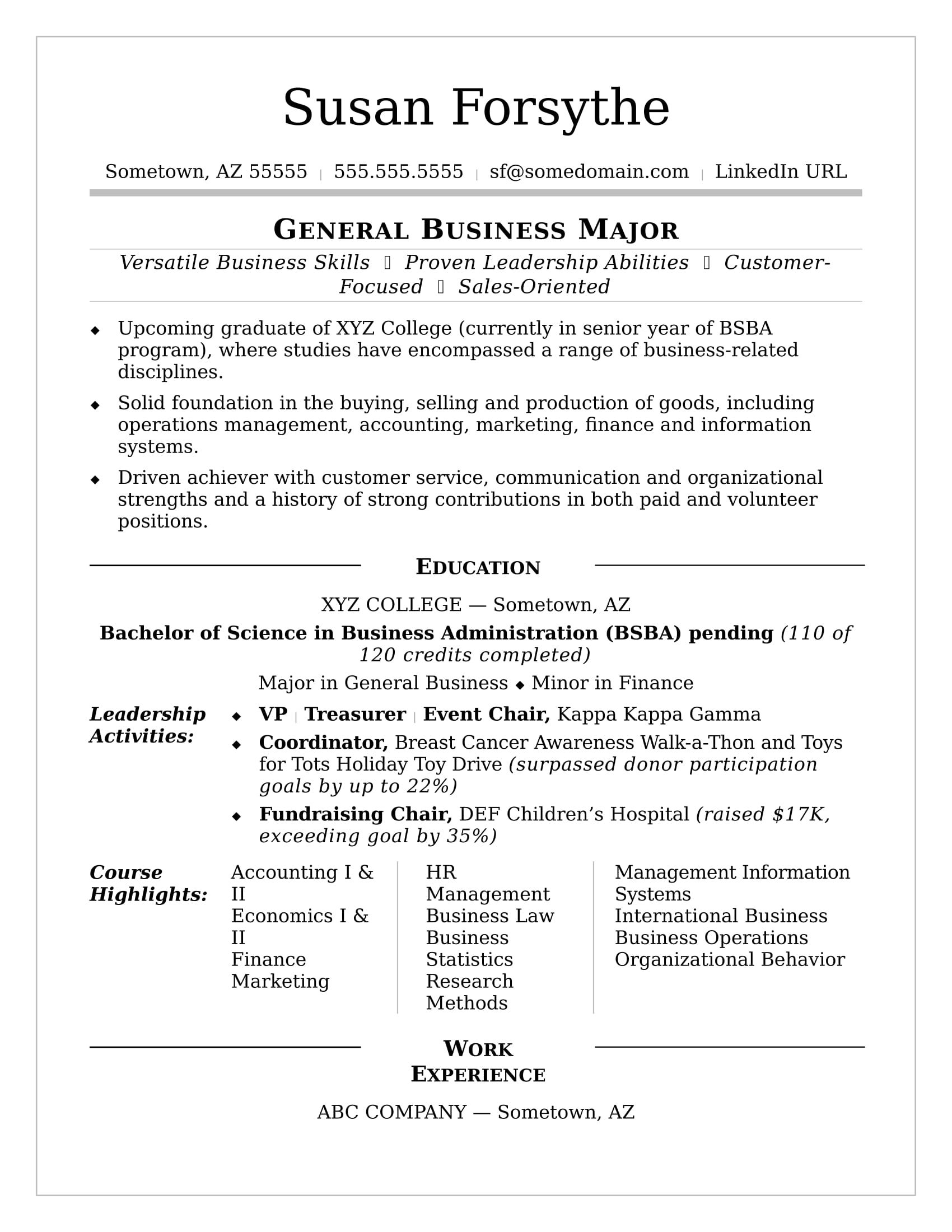 image result for college student resume template level work statement elementary teacher Resume College Level Resume Template