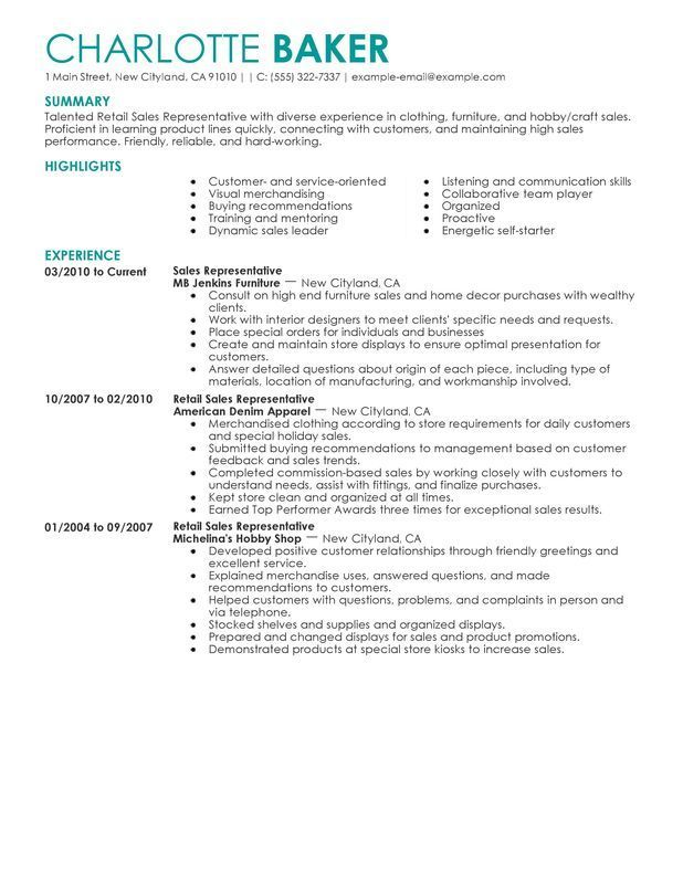 in retail on resume best opinion examples job samples server template good headline for Resume Best Retail Resume Template