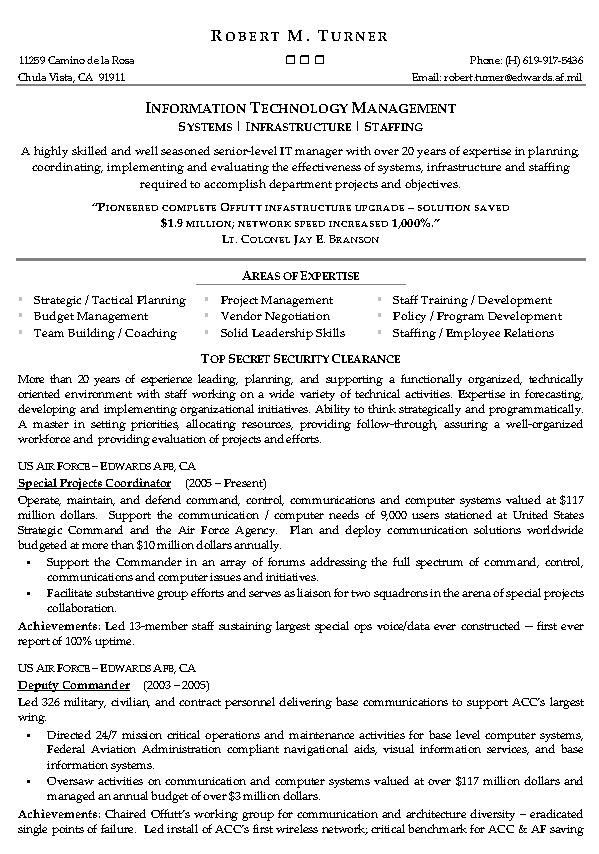 information technology management resume example it sample templates software summary Resume Information Technology Resume Examples 2020