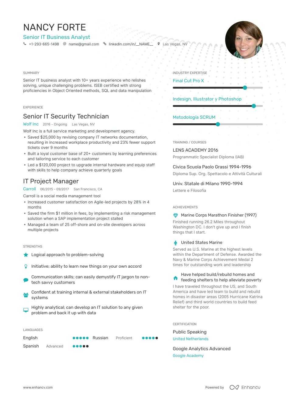 information technology resume examples do and don ts for enhancv it job construction Resume Resume For It Job