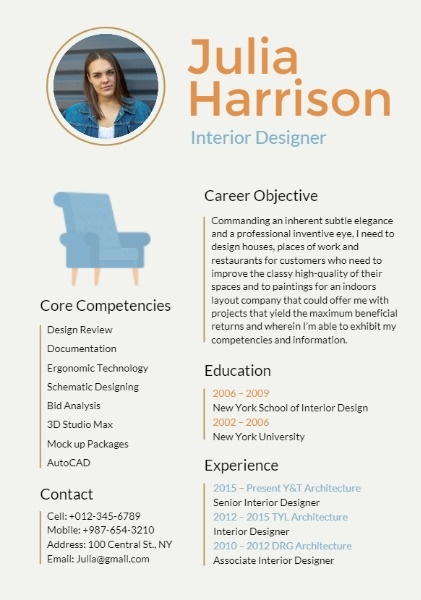 interior design resume builder outstanding personalized resumes for free fotor examples Resume Interior Design Resume Examples