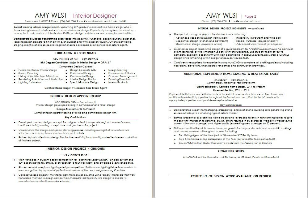 interior design resume sample monster examples estate career change accounting manager Resume Interior Design Resume Examples