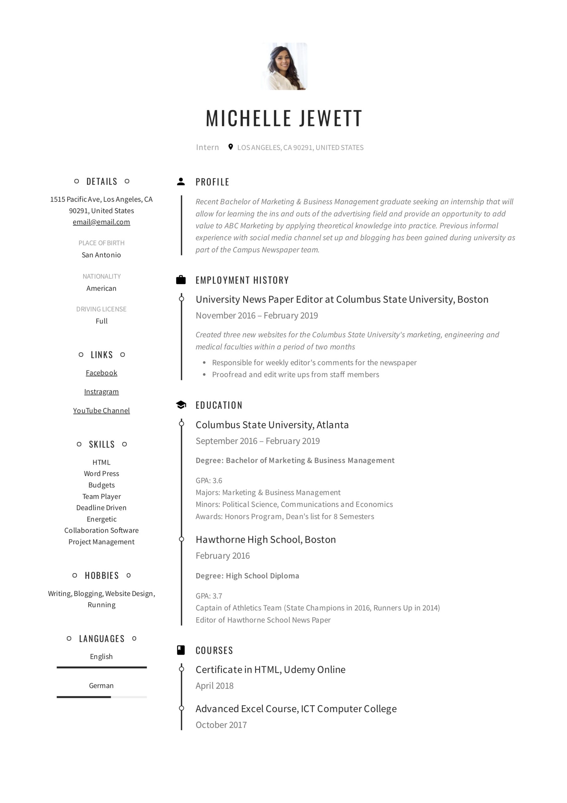 intern resume writing guide samples pdf high school student for internship example law Resume High School Student Resume For Internship