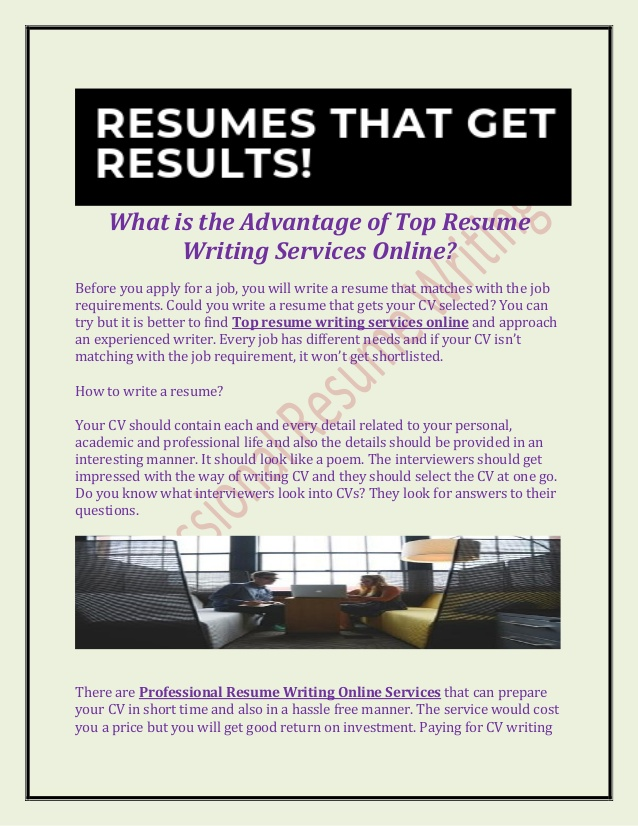 is the advantage of top resume writing services hiring manager proactive automotive Resume Online Resume Writing Services