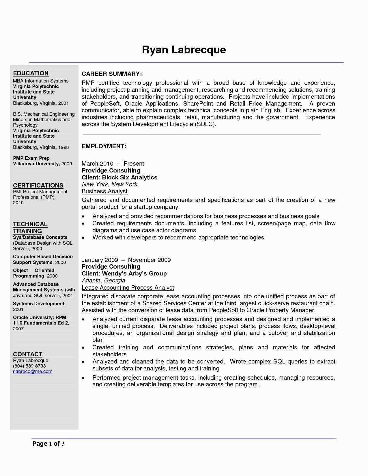 it project manager resume lovely engineering examples best business analyst people soft Resume People Soft Project Manager Resume