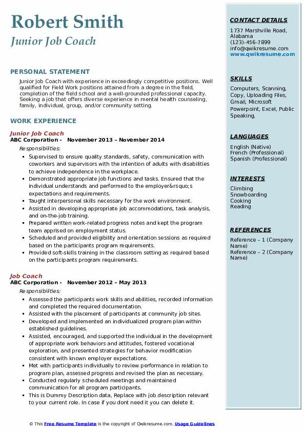job coach resume samples qwikresume template for coaching pdf data science objective aps Resume Resume Template For Coaching Job