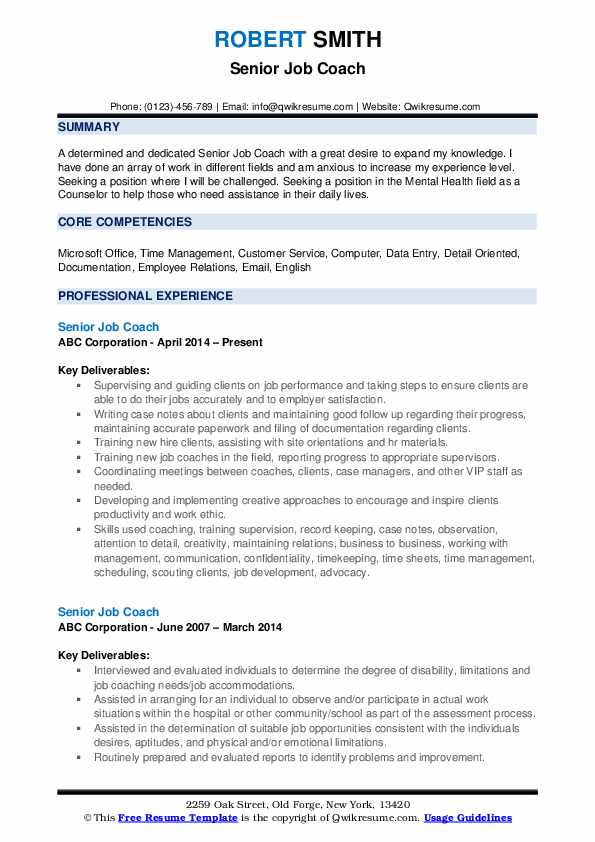 job coach resume samples qwikresume template for coaching pdf good acting clinic manager Resume Resume Template For Coaching Job