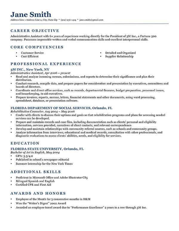 job objectives on resumes for printable and downloadable just writing great objective Resume Writing A Great Objective For Resume