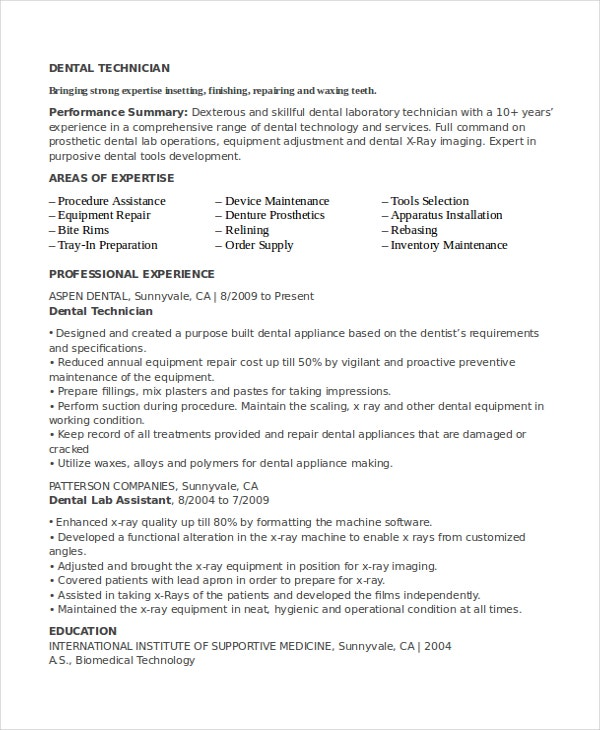 lab technician resume template free word pdf document downloads premium templates entry Resume Entry Level Lab Assistant Resume