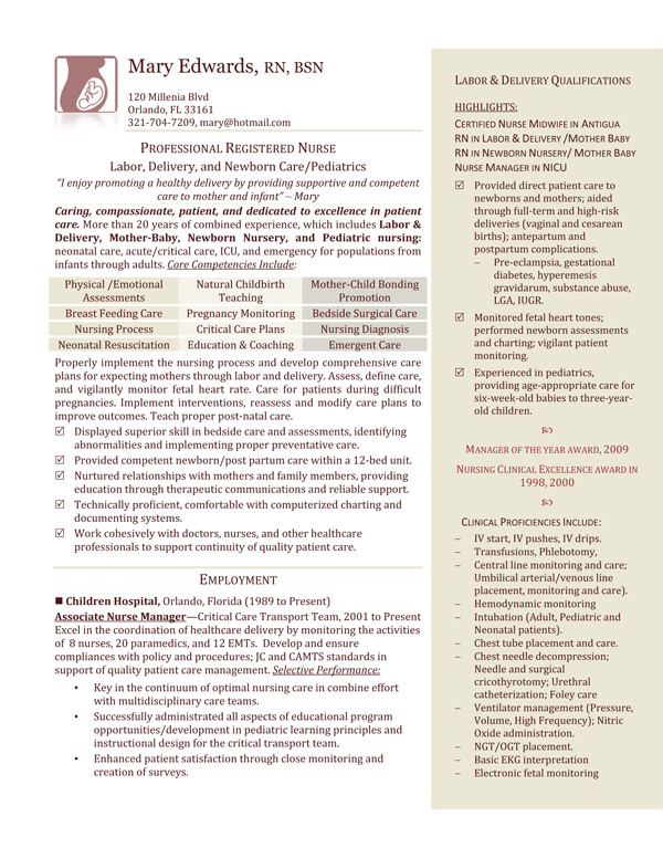 labor and delivery nurse resume free image headline for embedded software engineer ats Resume Labor And Delivery Nurse Resume
