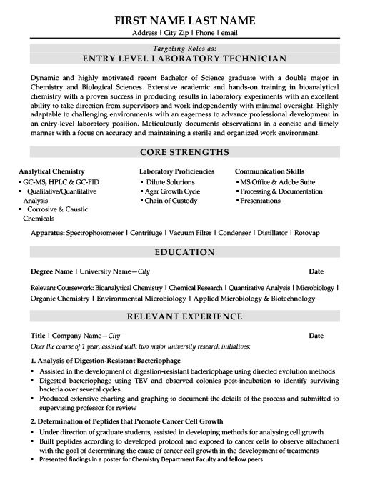 laboratory technician resume template premium samples example entry level lab assistant Resume Entry Level Lab Assistant Resume