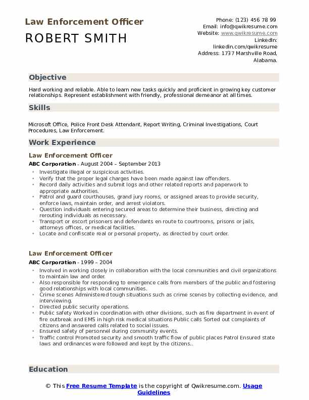 law enforcement officer resume samples qwikresume pdf make your ats tracking linkedin Resume Law Enforcement Officer Resume