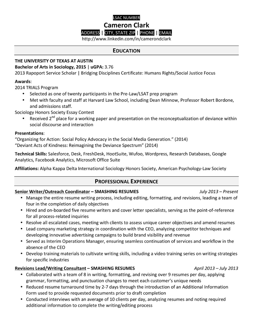 law school resume templates prepping your for of university at judicial externship on Resume Judicial Externship On Resume