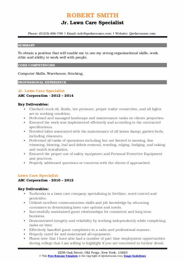 lawn care specialist resume samples qwikresume sample for worker pdf computer skills open Resume Sample Resume For Lawn Care Worker