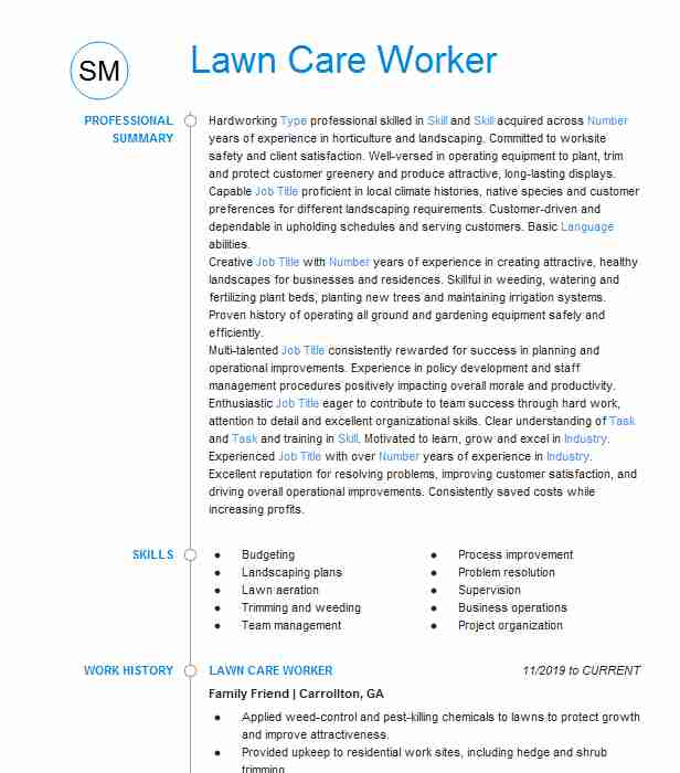 lawn care worker resume example stiles maintaince bangor sample for perfect design vp Resume Sample Resume For Lawn Care Worker