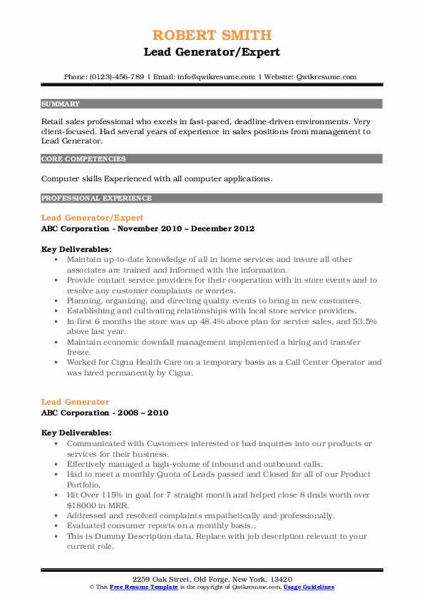 lead generator resume samples qwikresume summary for pdf project manager intern objective Resume Summary For Resume Generator