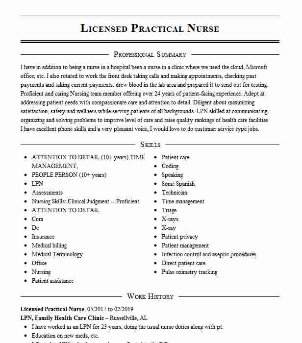 licensed practical nurse lpn resume example westmed medical group ob gyn plains new celta Resume Licensed Practical Nurse Resume