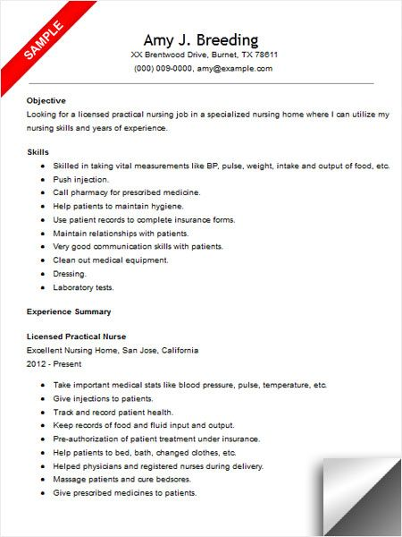 licensed practical nurse resume sample nursing examples lpn skills for listing Resume Lpn Skills For Resume