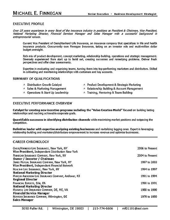 life insurance executive resume examples good for industry agile software development Resume Resume Examples For Insurance Industry
