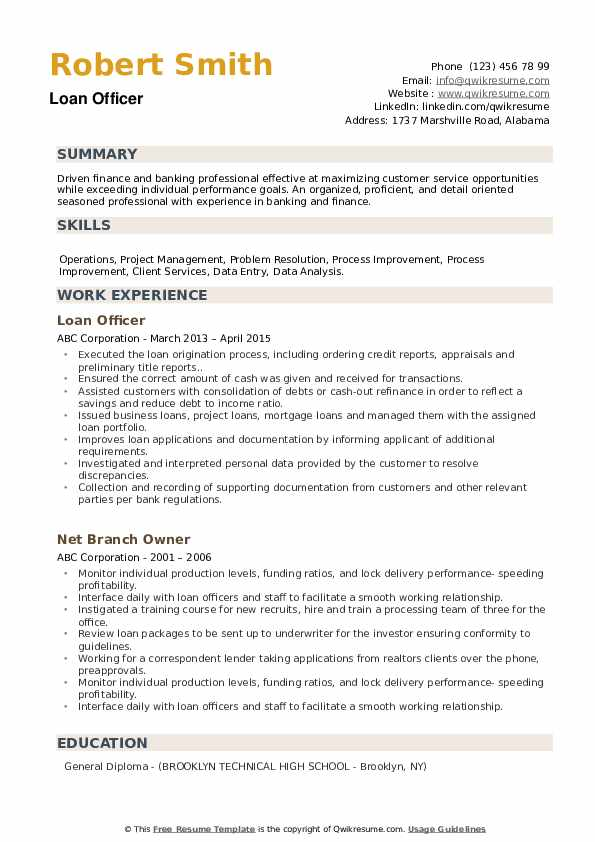 loan officer resume samples qwikresume job description pdf server mental health cover Resume Loan Officer Resume Job Description
