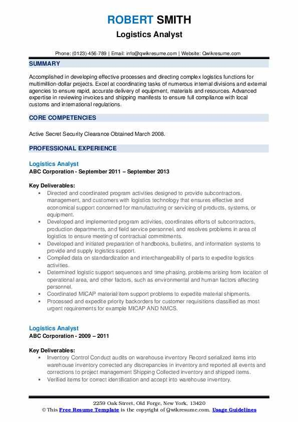 logistics analyst resume samples examples job objective project control sample kaplan Resume Project Control Analyst Resume Sample