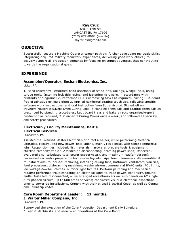 machine operator resume cnc best examples for software engineer objective phrases follow Resume Cnc Machine Operator Resume