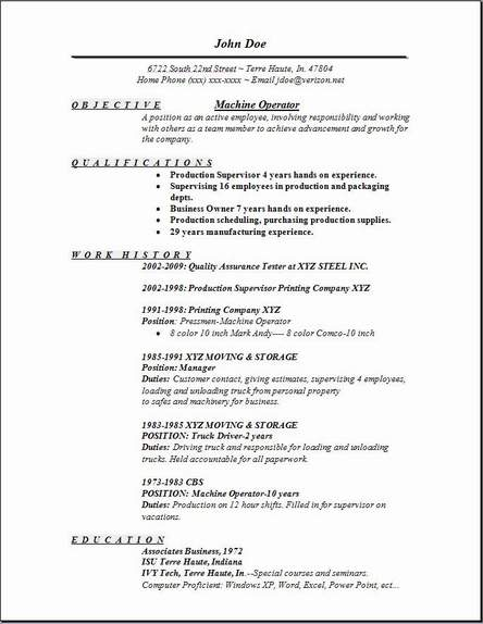 machine operator resume occupational examples samples free edit with word sample Resume Machine Operator Resume Sample