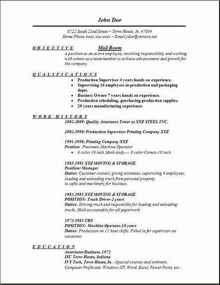 mail room resume occupational examples samples free edit with word mailroom dance for Resume Mailroom Resume Examples