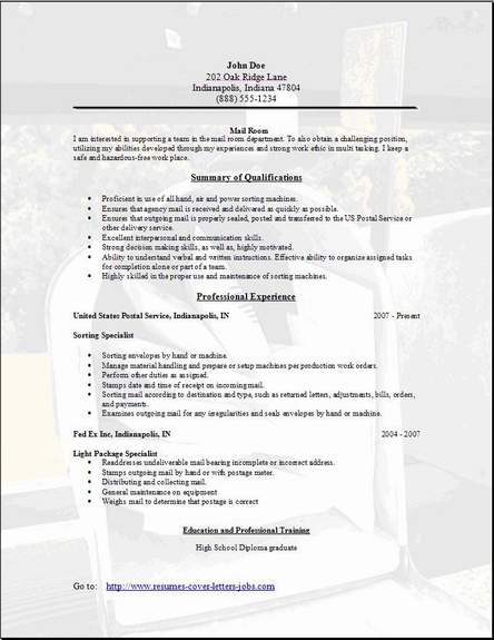 mail room resume occupational examples samples free edit with word mailroom resume3 cnet Resume Mailroom Resume Examples
