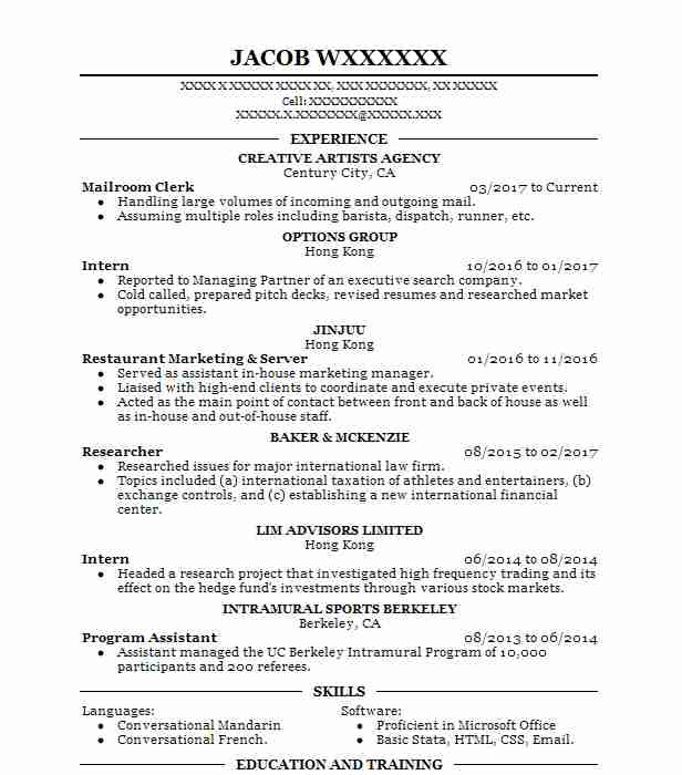 mailroom clerk resume example resumes misc livecareer examples design modern review Resume Mailroom Resume Examples